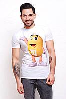 Мужская футболка из вискозы белого цвета m&m's