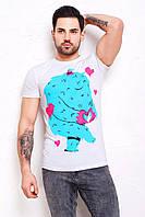 Мужская футболка с рисунком монстра