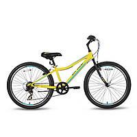 Велосипед 24'' PRIDE BRAVE 7 желто-синий матовый 2016