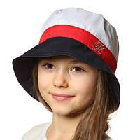 Летняя шляпка панамка для девочки.3-х цветная.