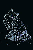 Изящная картина со стразами Кошка Мурка
