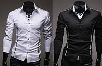 Мужская стильная рубашка  с длинным рукавом