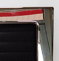 Решетка каминная с покрытием и жалюзи, Никелированная