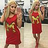 Трикотажное платье с пайетками, фото 2