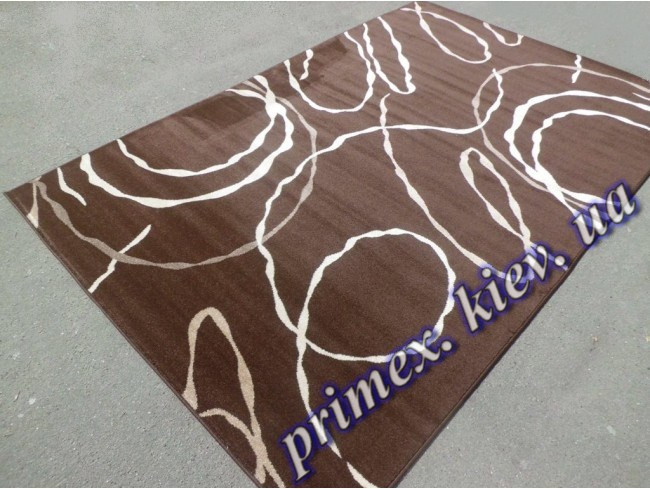"""Синтетический ковер Daffi Karat """"Лабиринт из нитей"""", цвет коричневый"""