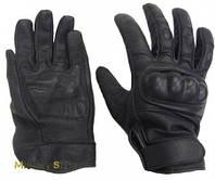 Кожаные тактические перчатки,  черные