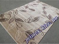"""Синтетический ковер Daffi Karat """"Листья на ветру"""", цвет коричнево-бежевый"""