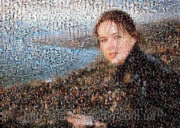 Мозаика из частных фотографий и фото пейзажей.