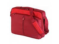 Сумка для ноутбука 16'' Continent CC-02 Червона, нейлон (40х31х4,5 см)