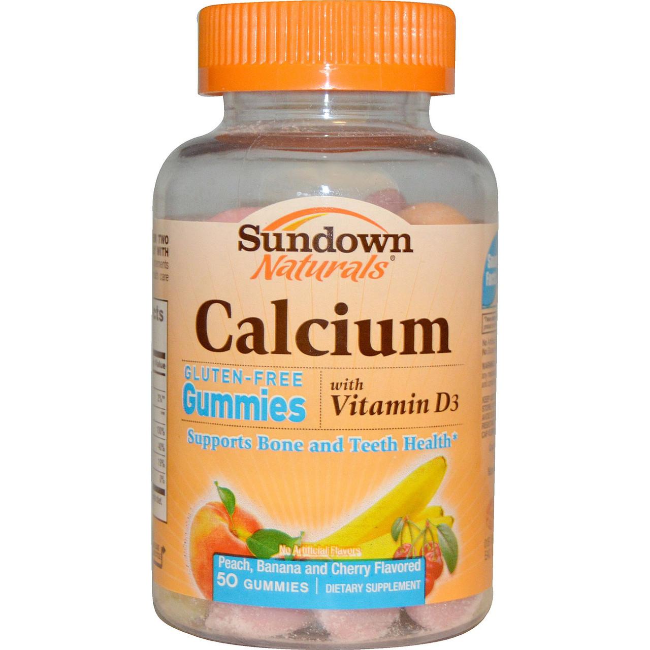 Кальцій для дітей з вітаміном Д3, Rexall Sundown, 50 цукерок