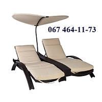 Шезлонги Стелла Дуо, комплект шезлонгов, мебель для бассейна, мебель для сада, мебель для пляжа
