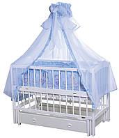 """Дитяче ліжечко Кузя """"Лілія"""" біле."""
