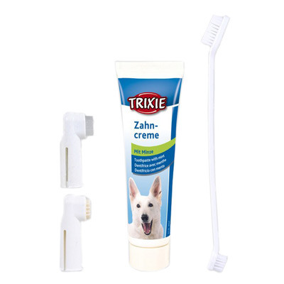Зубная паста с щеткой для собак Трикси (Trixie)