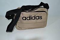 Спортивная сумка adidas (бежево-черная) LS(B3)-1108, фото 1