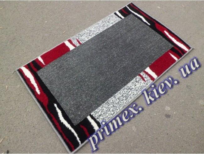 """Синтетический ковер Daffi Karat """"Серый"""", цвет серо-бело-красный"""