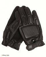 Перчатки тактические кожаные с демпферными вставками (Black)