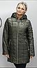 Куртка удлиненная осенняя батальных размеров ( Разные цвета), фото 3