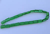 Бусина Прямоугольная цвет зеленый 10*15 мм
