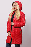Купить куртку удлиненную стеганную женскую батальных размеров р-р 44-74 Разные цвета