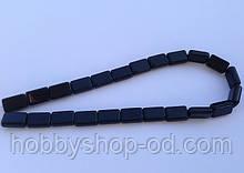 Бусина Прямоугольная цвет черный 10*15 мм