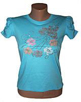 Подростковая классная футболка Flower (рост от 116 см до 152 см)