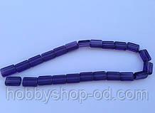 Бусина Прямоугольная цвет фиолетовый 10*15 мм