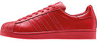 Женские кроссовки Adidas Superstar  Red, адидас суперстар