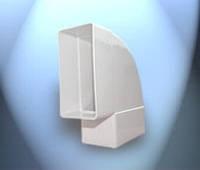 Система пластивент колено 55\110 горизонтальное
