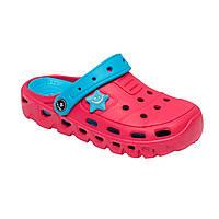 Детские сандали-кроксы ТМ Calipso размер 30-35 розовый, голубой