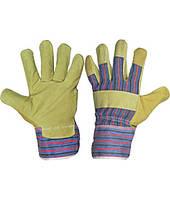 Перчатки рабочие спилковые комбинированные, фото 1