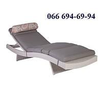 Шезлонг Стелла, белый, Эстония, мебель для бассейна, мебель для сада, мебель для пляжа