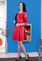 Кожаный костюм с юбкой женский 3 цвета!