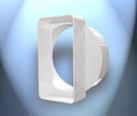 Система пластивент плоский\круглый-соединитель-переход 55\110 на 100