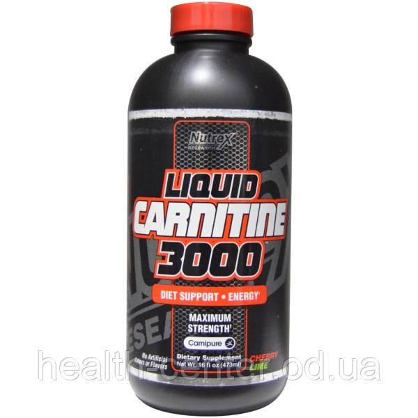 L-карнитин жидкий 3000 мг 480 мл для сердца восстановление после инфаркта Nutrex Research USA