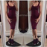 Платье женское.Ткань дайвинг цвета в ассортименте.Размер S M L. Длина 1 м. EK 114