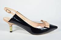 Классические босоножки BASCONI на маленьком каблуке