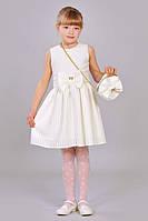 Красивое детское платье с сумочкой.