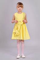 Летний желтый сарафан на девочку.
