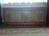 Экран (Короб) решетка на батарею отопления, деревянный (ясень) R18-F60 780х, фото 1