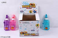 Мыльные пузыри YY13006 в форме машинки со свистком 4цвета 17*16*15 см, детские мыльные пузыри игрушка