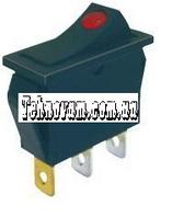Тумблер 2 положения 3 контакта 14*30 mm светодиод