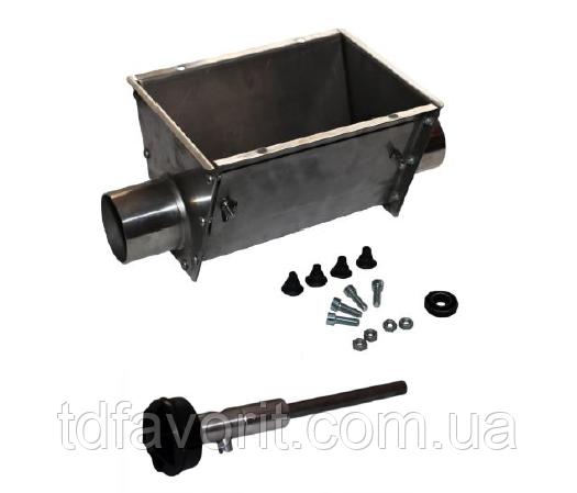 Поддон из нержавеющей стали в сборе (вал Roxell) для трубы Ø90 мм