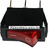 Тумблер 3 контакта с подсветкой 14*30 mm