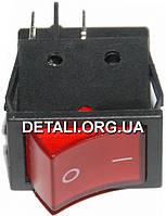 Тумблер 2 положения 4 контакта с подсветкой 25*31*32 mm 16A