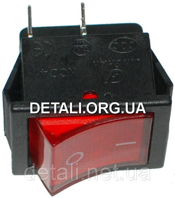 Тумблер 2 положения 4 контакта с подсветкой 25*31*28 mm 16A