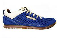 Мужские кроссовки Columbia, перфорированный нубук, синие, Р