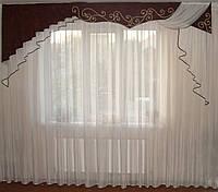 Жесткий ламбрекен Шнур коричневый 3м