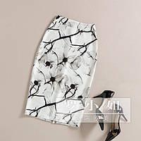 Юбка карандаш в черно белом цвете