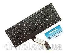 Оригінальна клавіатура для ноутбука Acer Aspire V5-471, V5-431 Series (чорна з підсвіткою, без рамки)