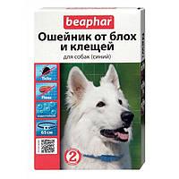 BEAPHAR ошейник для собак от блох и клещей синий, 65см